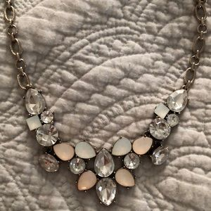 Pink and Silver LOFT Statement Necklace